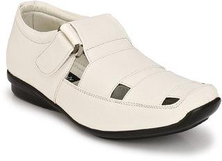 Eego Italy Men'S White Velcro Sandal