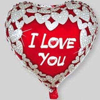 Funcart I love you foil ballon heart shape ( 45 cm by 45 cm)