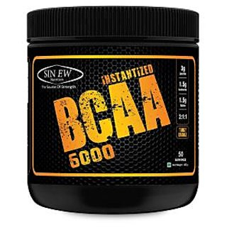 Sinew Nutrition Instantized BCAA 211 400gm/0.88lb (Tangy Orange) - 50 Serving
