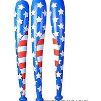 4th Of July USA Flag Inflatable Baseball Bat 42 Inch (1