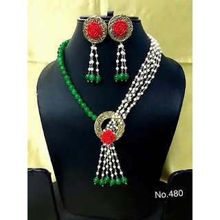 Necklace With Drop Earring