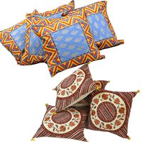 Buy Cushion Cover Set N Get Cushion Cover Set Free Design 1 COMB154