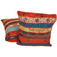 Fine Handmade Patchwork Cushion Cover 2Pc. Set 827 CUS827