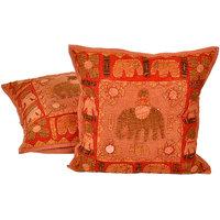 Fine Applique Patchwork Cushion Cover 2Pc. Set 828 CUS828