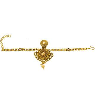 Anuradha Art Golden Tone Designer Wonderful Studded Shimmering Stone Traditional Bajuband/Armlet For Women/Girls