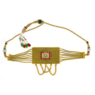 Anuradha Art Golden Finish Rectangular Shape Classy Wonderful Traditional Bajuband/Armlet For Women/Girls