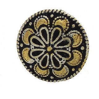 Anuradha Art Silver Finish Round Shape Designer Wonderful Press On Nose Ring/ Pin For Women/Girls