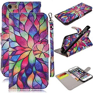 super popular 56270 c372e iPhone 6S Case, iPhone 6 Case, WeLoveCase PU Leather Folio Cover Color  Print with Wallet Function / Kickstand / Wrist Strap Design / Credit Card  ...