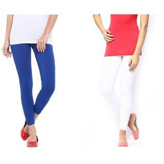 S Redish Royal Blue ,White Ankle Length Viscose Legging (With Mayani)