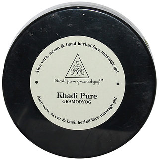 Khadi Pure Herbal Aloevera, Neem  Basil Facial Massage Gel - 100g