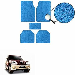 A2D SET OF 5 Anti-Skid Car Noodle Floor/Foot Mats Set Of 5 Blue-Mahindra Bolero Type 1