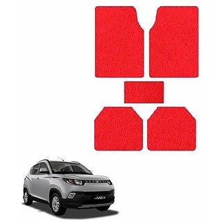 A2D SET OF 5 Anti-Skid Car Noodle Floor/Foot Mats Set Of 5 Red-Mahindra KUV 100