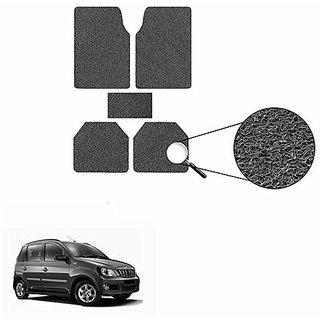 A2D SET OF 5 Anti-Skid Car Noodle Floor/Foot Mats Set Of 5 Black-Mahindra Quanto