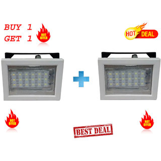 Sahu 666 Rechargeable 18 LED SQR white Emergency Lights.(Buy 1 Get 1 Free).with 2 charger