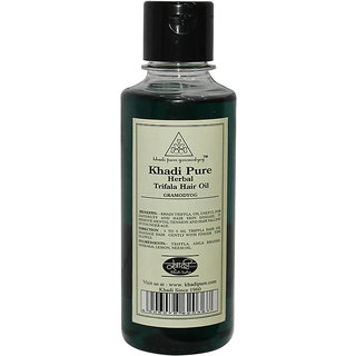Khadi Pure Herbal Triphala Hair Oil - 210ml