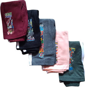 Jisha Fashion Kids Track Pant  Hosiery Material  Combo of 5