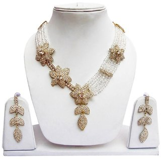 Jewels Gehna Alloy Party Wear Fashion Designer Stylish Necklace Set With Earring Set For Women  Girls