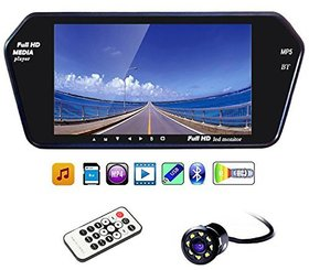 CP Bigbasket 7 Inch Full HD Touch Screen Bluetooth LED Screen+8LED Reverse Camera for Cars