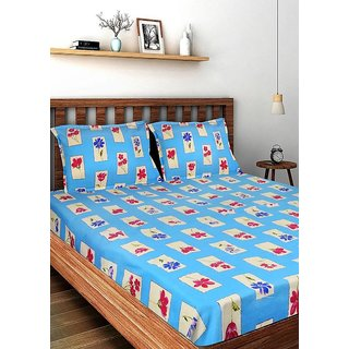 Bombay Dyeing-Ivyrose-Multicolor-Double Bedsheet with 2 Pillow Covers