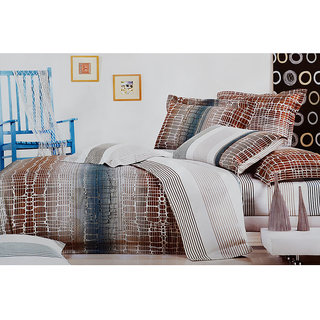 Jagdish Store Cream Cotton Bed Sheet with 2 Pillow Covers