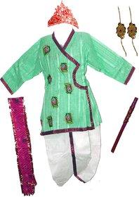 Krishna in Green Costume Set (6-12 months)