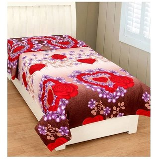 iLiv Single Bed Luxurious Bed Sheet Without Pillow Cover