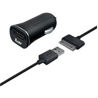 iLuv iAD565BLK MobiSeal Combo Micro Size USB Car Charger/Charge/Sync Cable for iPad/iPhone/iPod - Retail Packaging - Black