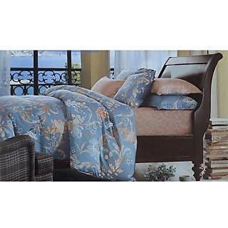 Jagdish Store Blue Cotton Bed Sheet with 2 Pillow Covers