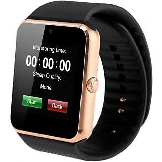 Ibs GT08 Bluetooth with Built-in Sim card and memory card slot Compatiible with All Androoid Mobiles Golden Smartwatch