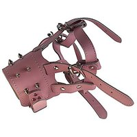 Generic Pink Genuine Leather Pet Dog Anti-bark Muzzle B