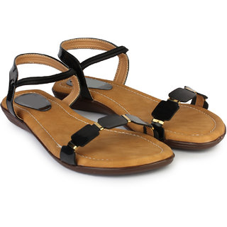 b4c5dc17cc78 Buy Do Bhai Women s Black Sandals Online - Get 41% Off