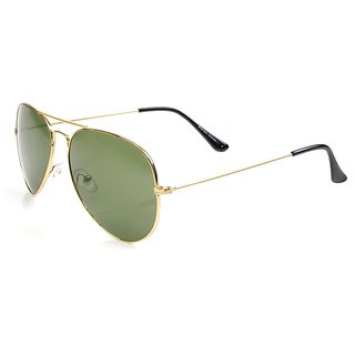Aoito Golden Aviator Sunglasses.