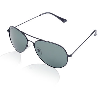 Aoito Sleek Black Aviator Sunglasses.