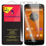 Moto Z Force Droid Screen Protector [2-Pack], iLLumiShield HD Clear Tempered Ballistic Glass Screen Protector for Moto Z Force Droid (Verizon Droid Edition) 9H Anti-Bubble Shield - Lifetime Warranty