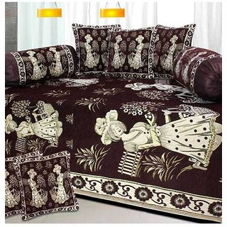 Impeccable Home Chenile (Velvet) D/set with 5 Cushion Covers and 2 bolster