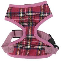 Imported Pet Dog Puppy Plaid Mesh Adjustable Harness Cl