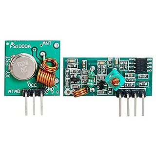 Ppmart 433mhz Rf Transmitter & Receiver Kit for Arduino/ Arm/ Wl MCU  Raspberry Pi New (Green)