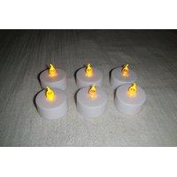 LED Candle Flameless Tea Light Flickering Candle Light Set Of 24 Led Diyas - 4832752