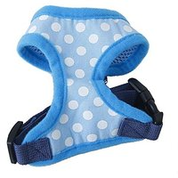 Generic Pet Dog Soft Mesh Harness Clothes L - Blue With