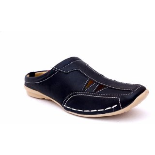 Manav Men's Black Slip on Sandals