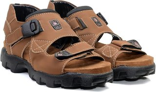 Lee Peeter Men's Brown Velcro Sandals