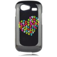 Talon Phone Case for Samsung i9020 Nexus S - I Heart Skulls - 1 Pack - Case - Retail Packaging - Black, Yellow, and Pink