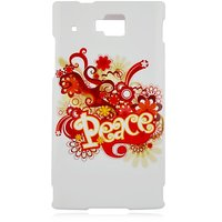 Talon Phone Case for Huawei U9000 Ideos - Peace - 1 Pack - Case - Retail Packaging - White, Red, and Yellow