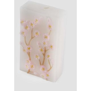 FENNEL Pink Seasonal Flower Embossed Candle