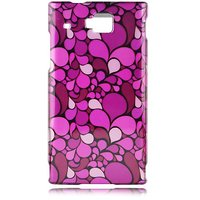 Talon Phone Case for Huawei U9000 Ideos - Petals - 1 Pack - Case - Retail Packaging - Purple