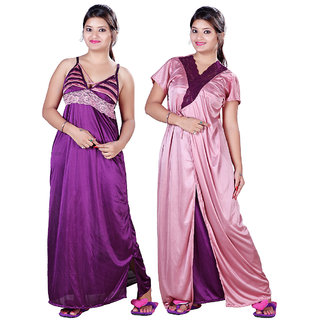 41afad73cae Buy Mahaarani Fancy Satin Nighties Online   ₹599 from ShopClues