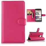 LG G4 Note Case, LG G4 Note Wallet Case,LG G Stylus (LS770) Case,TIANLI PU Wallet Leather Flip Cover Case For LG G4 Stylus/LS770,With 3-Credit Cards Slots And Money Slot.Pink
