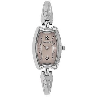 Sonata Quartz Tan Dial Women Watch-8116SM02