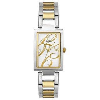 Timex Analog Silver Square Watch -TWEL11304