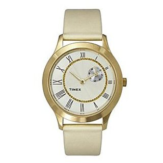 Timex Analog White Round Watch -TW000Q813